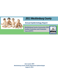 Annual Epidemiology Report   Mecklenburg County Community Child  Fatality Prevention and Protection