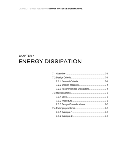 ENERGY DISSIPATION  CHAPTER 7