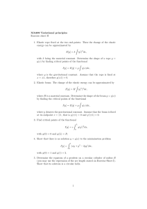 MA209 Variational principles Exercise sheet II