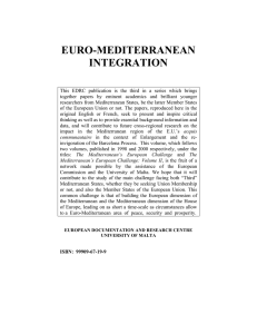 EURO-MEDITERRANEAN INTEGRATION