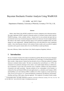 Bayesian Stochastic Frontier Analysis Using WinBUGS J.E. Griffin and M.F.J. Steel