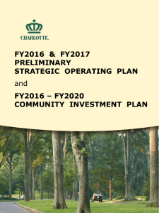 FY2016  &  FY2017 PRELIMINARY STRATEGIC  OPERATING  PLAN