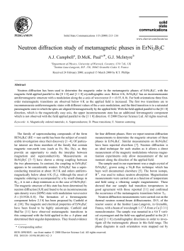 Neutron diffraction study of metamagnetic phases in ErNi B C *, G.J. McIntyre