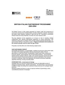 BRITISH-ITALIAN PARTNERSHIP PROGRAMME 2003-2004