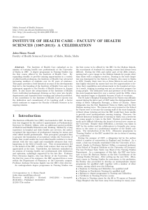 Malta Journal of Health Sciences