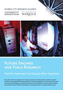 Future Engines and Fuels Research Fuel Pre-Treatment and Exhaust After-Treatment