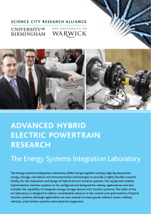 advanced hybrid electric powertrain research The Energy Systems Integration Laboratory