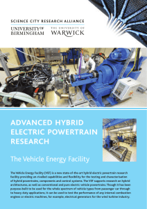 advanced hybrid electric powertrain research The Vehicle Energy Facility