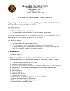 CHARLOTTE FIRE DEPARTMENT Fire Alarm/Fire Sprinkler Shop Drawing Guidelines