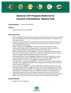 General CIP Projects Referral to Council Committees: Report-Out