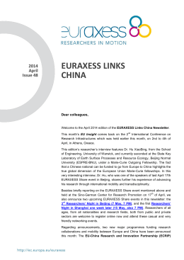 EURAXESS LINKS CHINA 2014 April