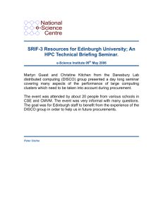 National e-Science Centre SRIF-3 Resources for Edinburgh University; An