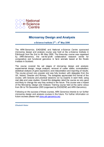 National e-Science Centre Microarray Design and Analysis