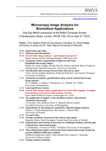 BMVA Microscopy Image Analysis for Biomedical Applications .