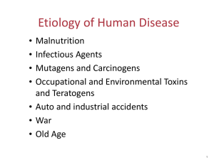 Etiology of Human Disease