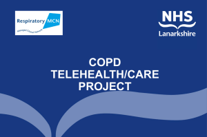 COPD TELEHEALTH/CARE PROJECT