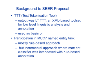 Background to SEER Proposal