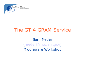 The GT 4 GRAM Service Sam Meder ( )