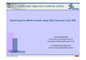 Searching for White Dwarfs using Web Services and .NET
