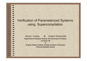 Verification of Parameterized Systems using  Supercompilation