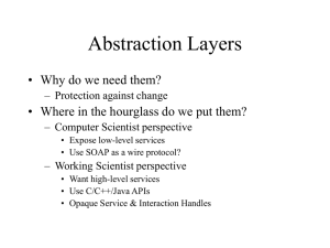 Abstraction Layers • Why do we need them? – Protection against change