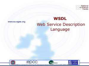 WSDL Web Service Description Language www.eu-egee.org
