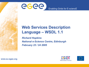 Web Services Description – WSDL 1.1 Language Richard Hopkins