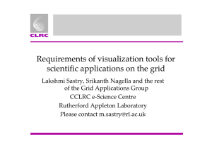 Requirements of visualization tools for scientific applications on the grid