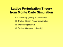Lattice Perturbation Theory from Monte Carlo Simulation