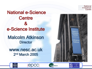 National e-Science Centre & e-Science Institute