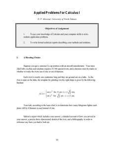 Applied Problems for Calculus I