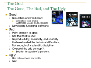 The Grid: The Good, The Bad, and The Ugly Good: Bad: