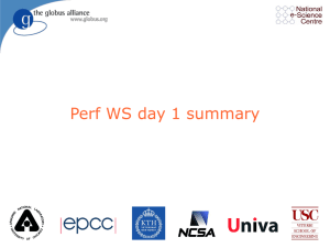 Perf WS day 1 summary