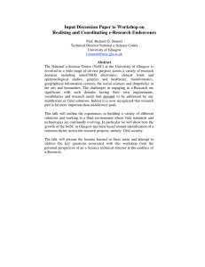 Input Discussion Paper to Workshop on Realising and Coordinating e-Research Endeavours