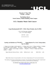 UCL Chamber Music Club Concert