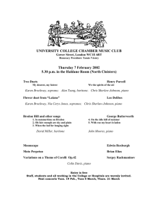 UNIVERSITY COLLEGE CHAMBER MUSIC CLUB Thursday 7 February 2002
