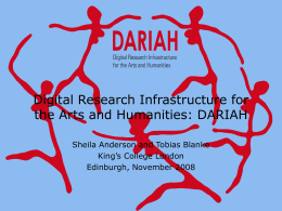 Digital Research Infrastructure for the Arts and Humanities: DARIAH King's College London