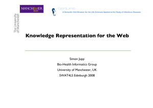 Knowledge Representation for the Web Simon Jupp Bio-Health Informatics Group