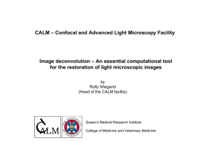 CALM – Confocal and Advanced Light Microscopy Facility