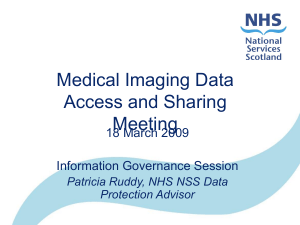 Medical Imaging Data Access and Sharing Meeting 18 March 2009