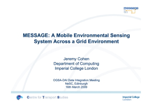 MESSAGE: A Mobile Environmental Sensing System Across a Grid Environment