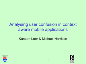 Analysing user confusion in context aware mobile applications 1