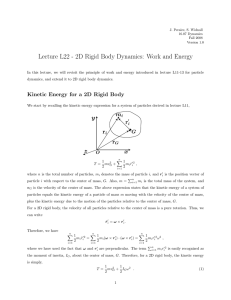 Lecture L22 - 2D Rigid Body Dynamics:  Work and...