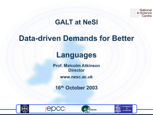 Data-driven Demands for Better Languages GALT at NeSI 16