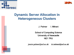 Dynamic Server Allocation in Heterogeneous Clusters