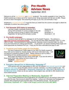 Pre-Health Advisee News September 2015