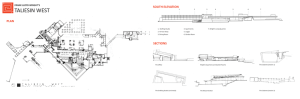 TALIESIN WEST SOUTH ELEVATION PLAN FRANK LLOYD WRIGHT'S