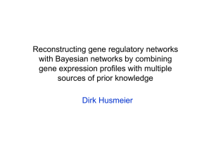 Reconstructing gene regulatory networks with Bayesian networks by combining