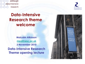 Data-Intensive Research theme welcome Data-Intensive Research