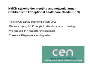 NMCN stakeholder meeting and network launch